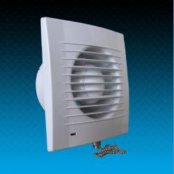 Bathroom fan with check valve V100SC